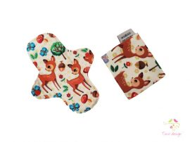 """Cute deer"" cloth pad + wetbag"