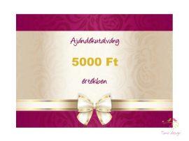 Gift voucher 5000 HUF value