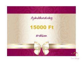 Gift voucher 15000 HUF value