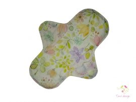 18 cm leak-proof pantyliner with pastel flowers pattern