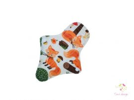 17 cm leak-proof thong pantyliner with cute fox pattern