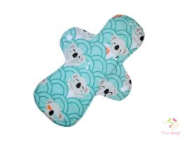 28 cm cloth pad with koala pattern, for extra heavy flow