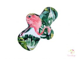 28 cm cloth pad with flamingo pattern, for extra heavy flow