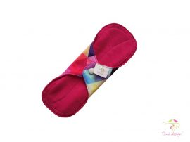 20 cm cloth pad with colorful triangles pattern, for light flow