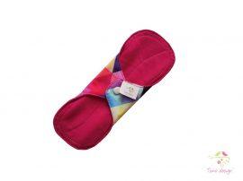 20 cm-es színes háromszög mintás mosható női betét, enyhe vérzéshez