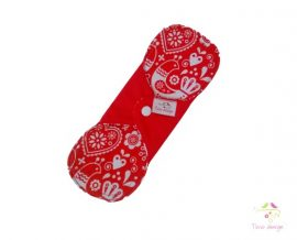 20 cm cloth pad with folk art pattern, for light flow