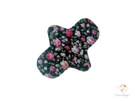 16 cm black leak-proof pantyliner with roses pattern