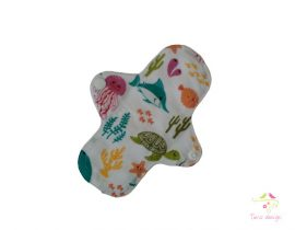 16 cm leak-proof pantyliner with marine life pattern