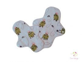 Leak-proof pantyliner starter kit with frog prince pattern for super light flow (sold as a pack of 2)