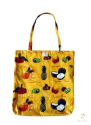 Cotton bag with citrus fruits pattern