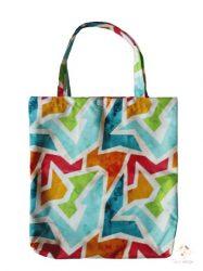 Színes mintás bevásárló táska (vízálló)