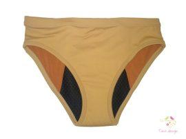 Testszínű bikini fazonú menstruációs bugyi extra erős vérzéshez (antibakteriális, ezüstionos)