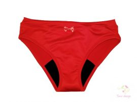 Period panties for moderate flow, in red colour