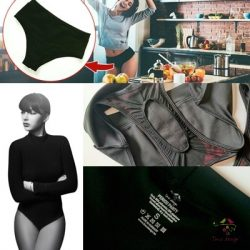 """Black period panties PACK for moderate flow with """"boat"""" design and replacable cloth pads"""