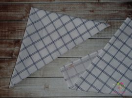 White and blue patterned cotton handkerchief for men