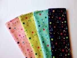 Csillag mintás gyerek textil zsebkendő