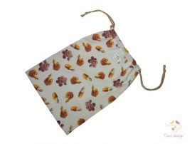 Reusable breathable bread storage bag, with bread pattern, 30 x 42 cm