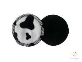 Reusable makeup removal pads with cow pattern
