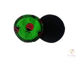 Reusable makeup removal pads with ladybird pattern