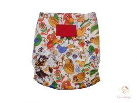Diaper cover with birds pattern