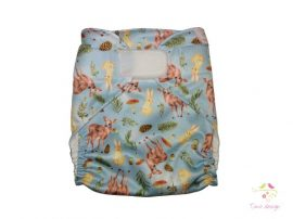 Diaper cover with forest animals pattern