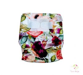 Színes rózsás mosható pelenka külső (dupla PUL)