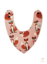 Baby scarf with cute foxes pattern