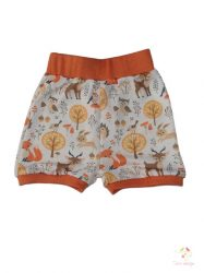 Baby short with forest animals pattern and orange pass, size: 86-92 months