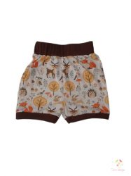 Baby short with forest animals pattern and brown pass, size: 86-92 months