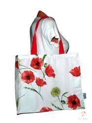 Pipacs mintás strandtáska, bevásárló táska (vízálló)