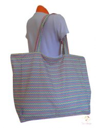 Waterproof bag with colorful chevron pattern