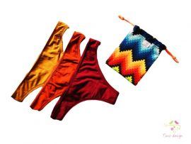 Period panties in thong style for light flow, BUNDLE PACK, 3 pcs + FREE GIFT