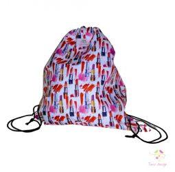 Leak-proof bag with lipstick pattern