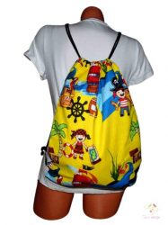 Waterproof bagpack with pirate pattern