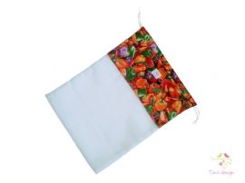 Reusable product bags with peppers pattern